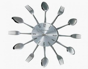 Metal Spoons Wall Clock