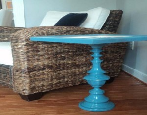 Old Picture Frame Home Decor Side Table Idea