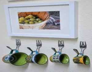 Recycled Crafts Metal Tableware DIY Home Decoration Designs