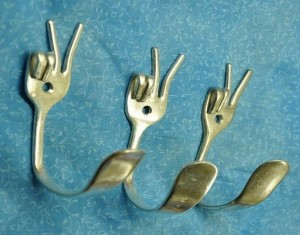 Recycled Crafts Metal Tableware DIY Home Decorations