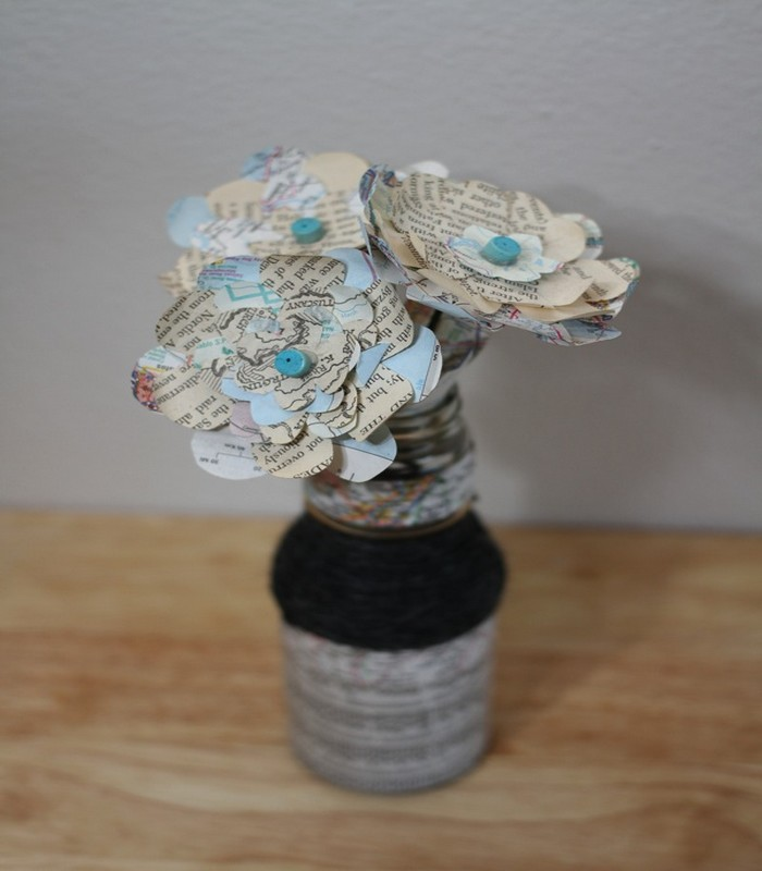Recycled Glass Bottles Beautiful Flower Vase