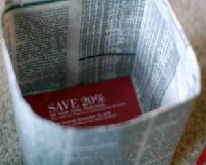 Recycled Newspaper Gift Bag