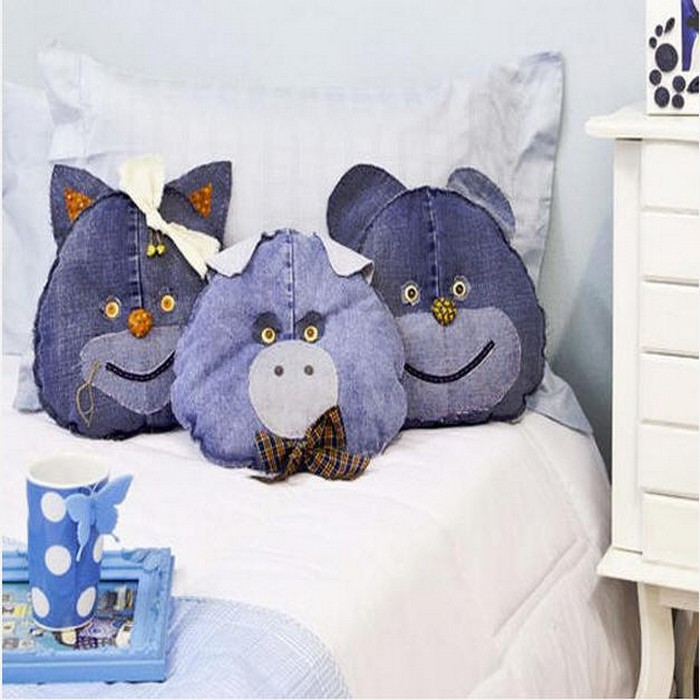 Recycled Old Blue Jeans Kids Toys and Home Decor Idea