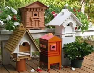 Innovative Idea Recycling Wood for Birdhouses