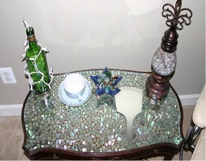 Recycling CDs Furniture Decor
