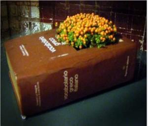 Thick Book Handmade Planter Idea