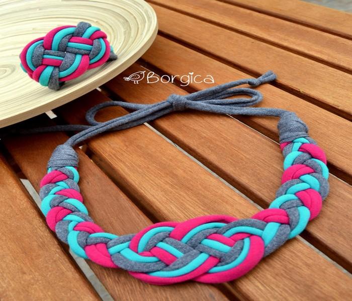 Recycled Fabrics Bracelet Idea