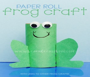 Recycled Paper Roll Kids Frog Toy