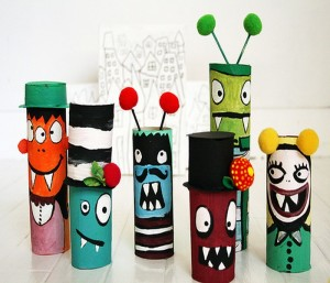 Recycled Paper Rolls Kids Crafts
