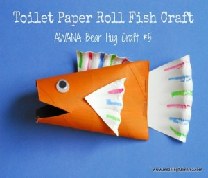Recycled Paper Rolls Kids Fish Toy