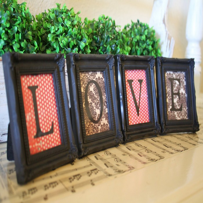 Recycled Picture Frames Home Decor Idea