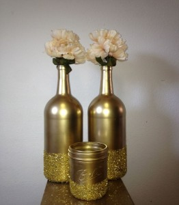 Recycling Wine Bottles Decor Idea