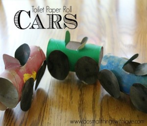 Toilet Roll Cars