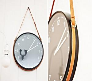 Upcycled Belt Wall Clock Idea