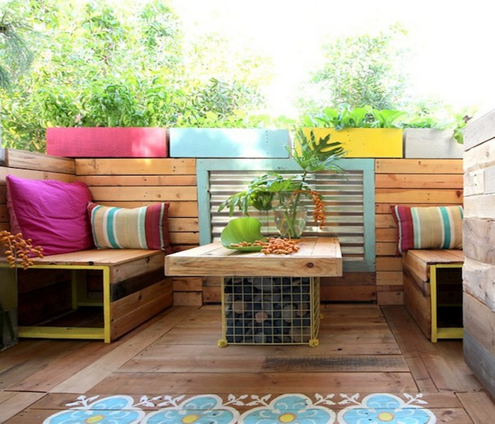 Upcycled Furniture Patio Decor Idea