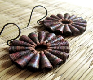 Upcycled Paper Beads Earrings