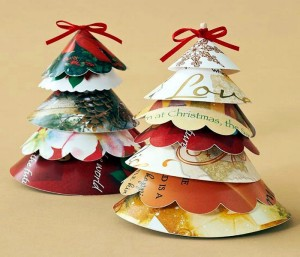 Upcycled Paper Christmas Crafts
