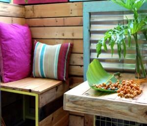 Upcycled Patio Decor Idea
