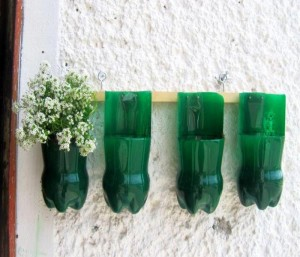 Upcycled Plastic Bottles Planters