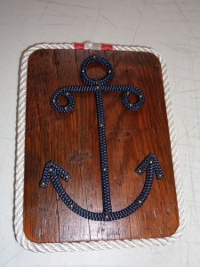 Upcycled Wood Anchor Sign Plaque