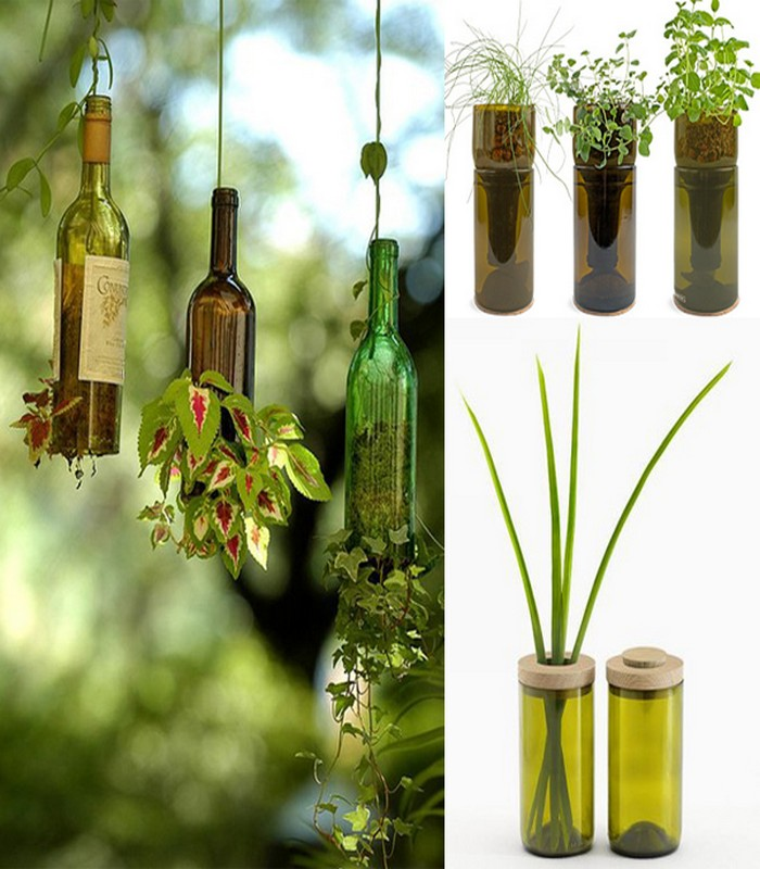 Wine Bottles Recycling Ideas