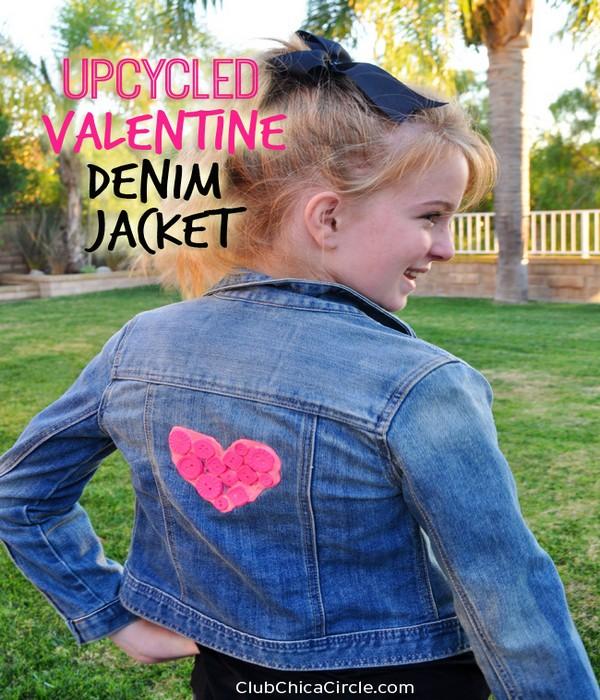 DIY Upcycled Valentine Denim Jacket