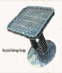 Recycled Metal Welded Table Idea