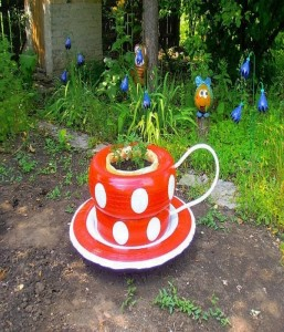 Recycled Old Rubber Tires Garden Decor Ddea