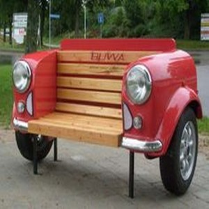 Upcycled Automotive Part Bench