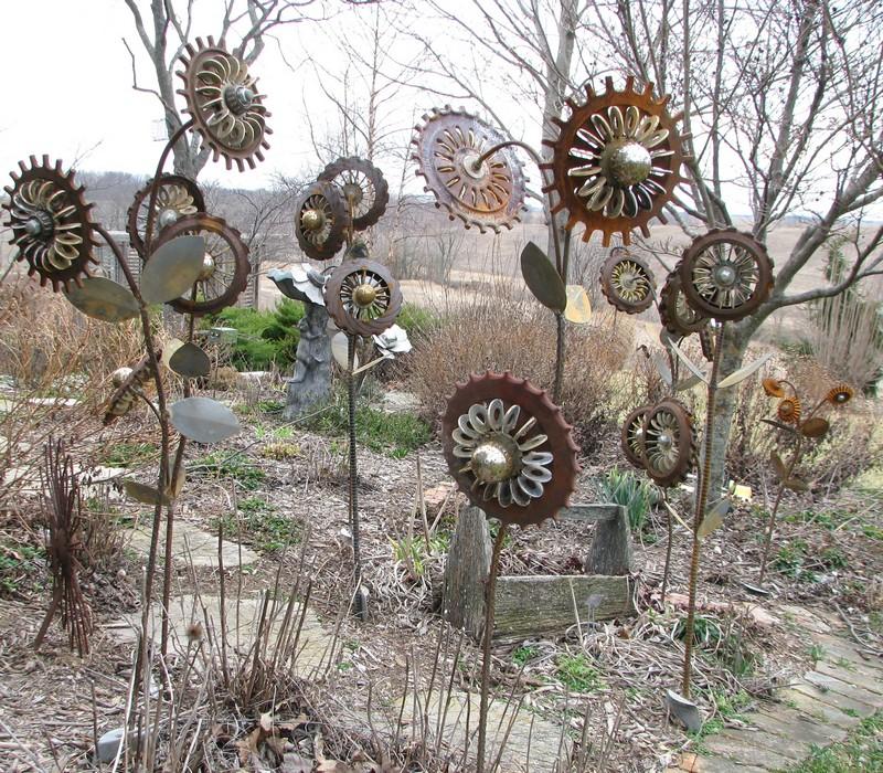 Upcycled Metal Art Gaden Decor