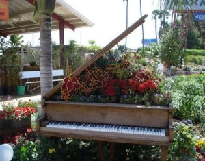 Recycled Wooden Piano Garden Decor