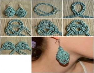 DIY Recycled Pearls Earrings