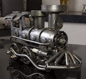 Recycled Automotive Parts Train