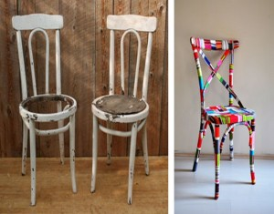 Recycled Chairs Convert into Elegant Furniture