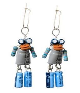 Recycled Electronics Earrings