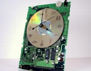 Recycled Electronics Mother Board Clock