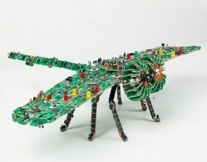 Recycled Electronics Sculpture