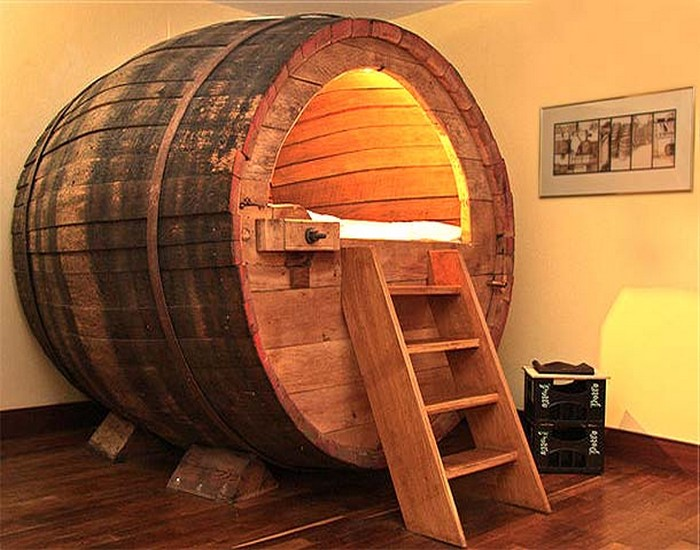 Recycled Wooden Beer Barrel Bedroom