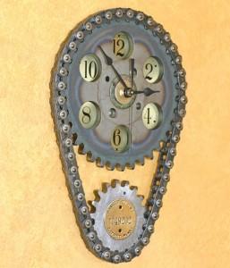 Repurposed Auto Parts Clock