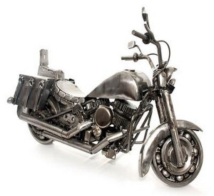 Upcycled Auto Parts Kids Toy Motorbike