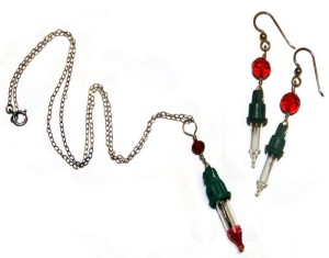 Upcycled Christmas Lights Jewelry