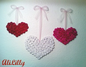 Upcycled Paper Beautiful Hearts