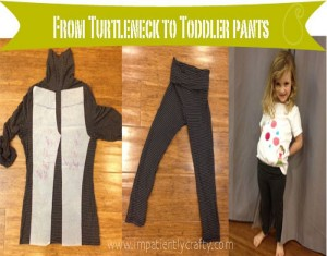 Upcycled Turtleneck into Pant