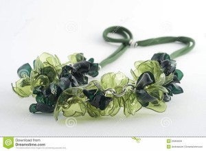 Attractive Necklace Made from Recycled Plastic Bottles