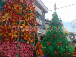 Christmas Tree Made from Recycle Material