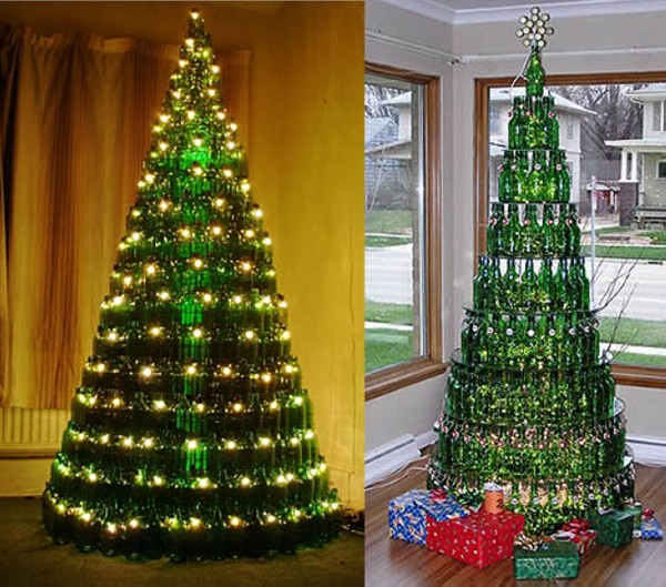 Christmas Tree Made from Recycled Bottles