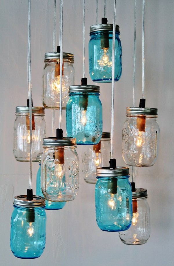 DIY Mason Jars into Beautiful Chandelier
