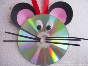 DIY Recycled CD Mouse Craft