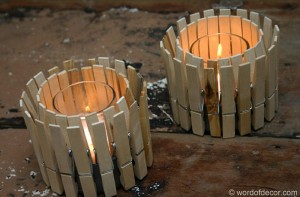DIY Recycled Candle Holders