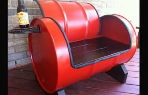 DIY Recycled Metal Drum Furniture